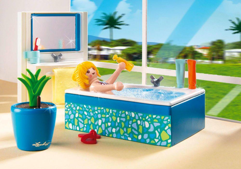 Playmobil city life 5577 pas cher salle de bain avec for Playmobil maison moderne prix