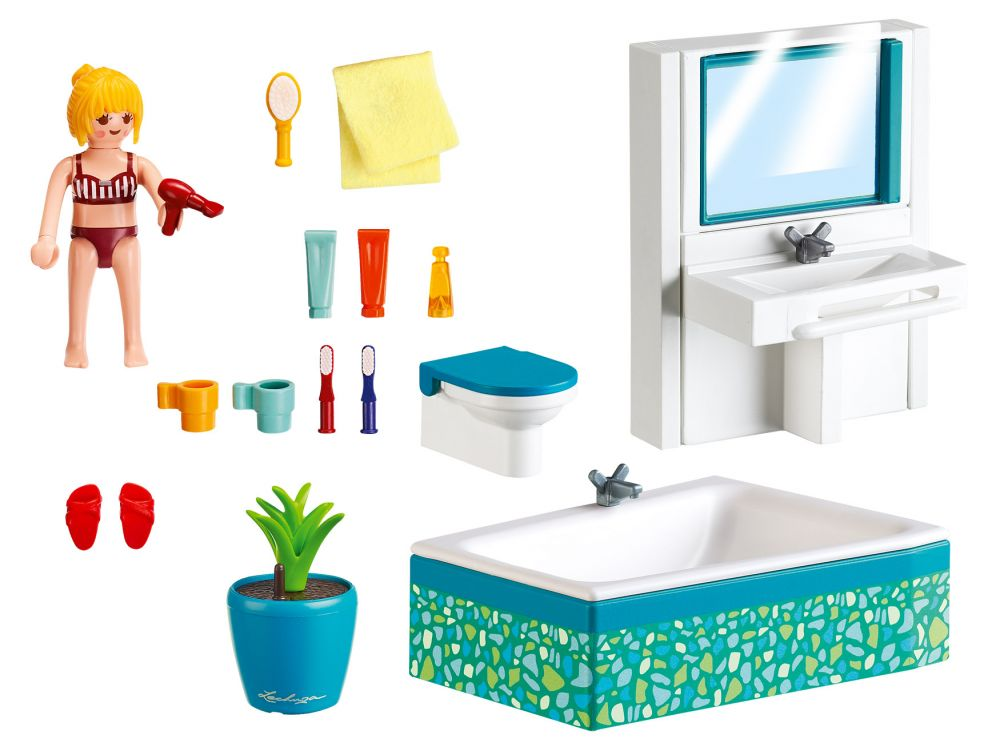 Hd wallpapers playmobil city life maison moderne pas cher for Salle bain playmobil