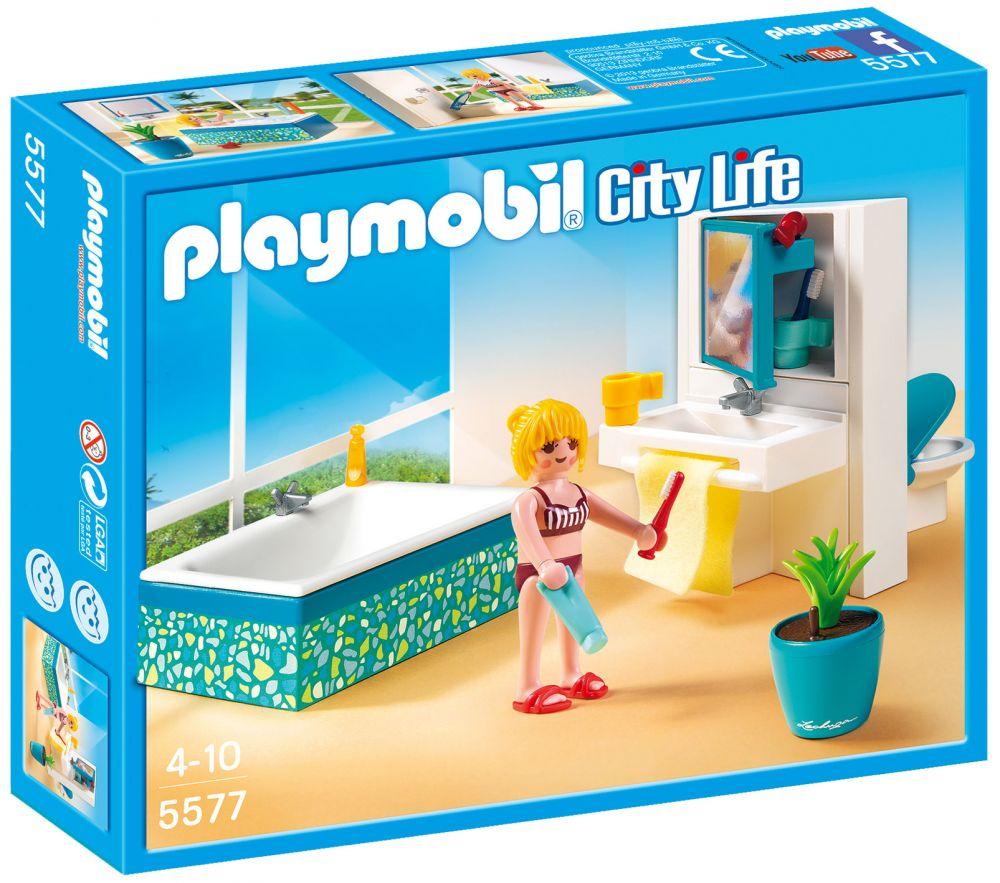 Playmobil City Life 5577 Pas Cher Salle De Bain Avec Baignoire