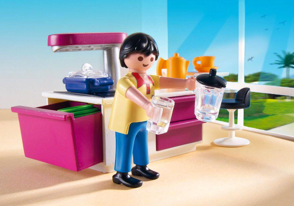 playmobil city life 5582 pas cher cuisine avec lot