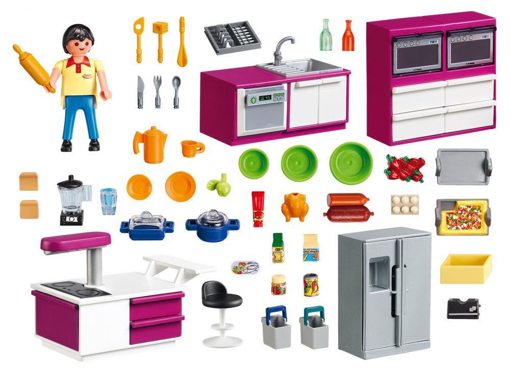 playmobil city life 5582 pas cher cuisine avec lot. Black Bedroom Furniture Sets. Home Design Ideas