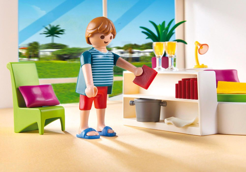 playmobil city life 5583 pas cher chambre avec lit rond. Black Bedroom Furniture Sets. Home Design Ideas