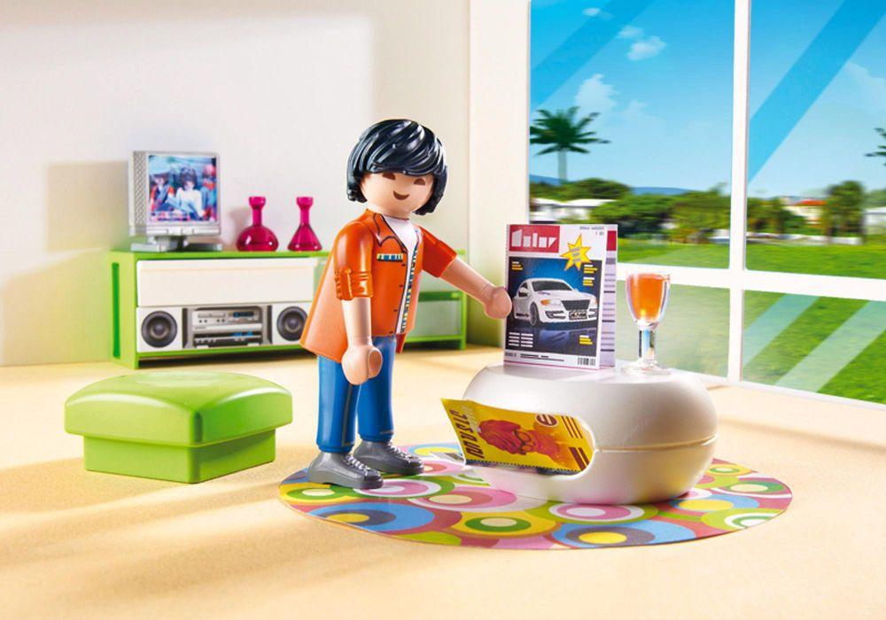 Playmobil city life 5584 pas cher salon moderne for Salon playmobil