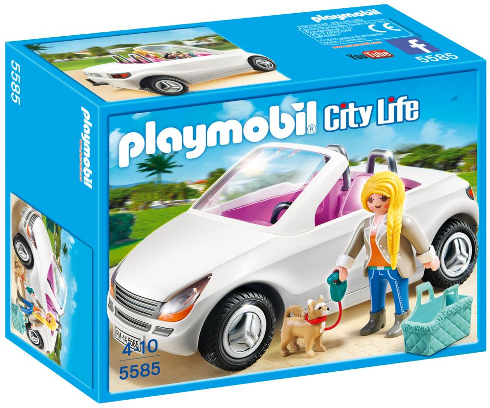 playmobil city life 5585 pas cher voiture cabriolet. Black Bedroom Furniture Sets. Home Design Ideas