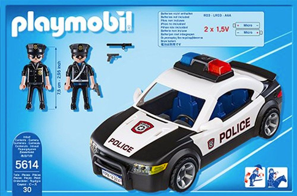 playmobil city action 5614 pas cher la voiture de police. Black Bedroom Furniture Sets. Home Design Ideas