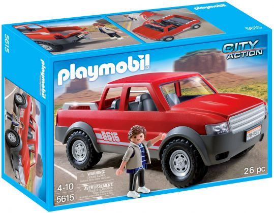 PLAYMOBIL City Action 5615 Pick-up rouge