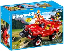 PLAYMOBIL City Action 5616 Pompiers avec 4x4 d'intervention