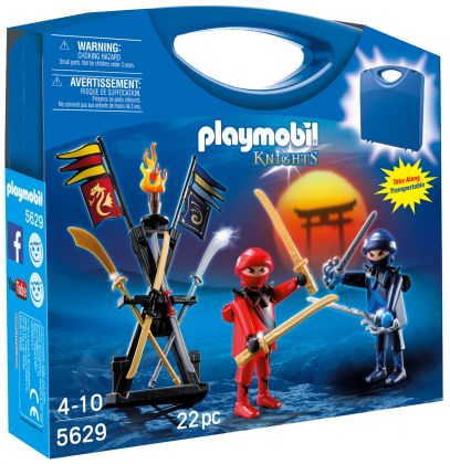PLAYMOBIL Knights 5629 Valisette Ninjas