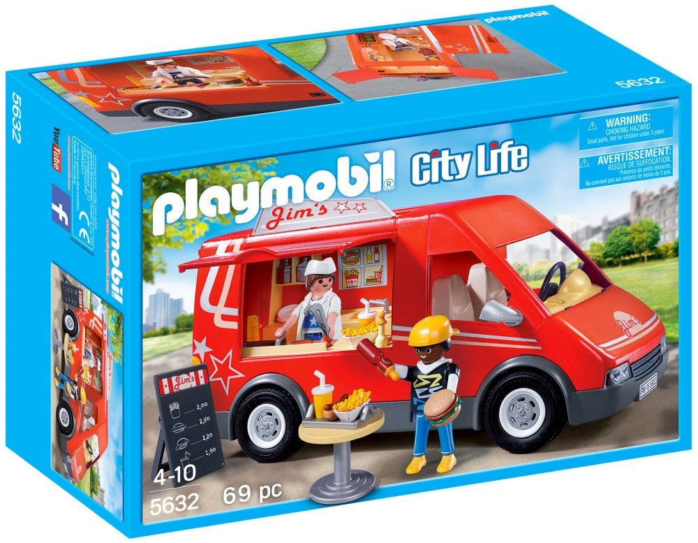 Playmobil city life 5632 pas cher camion alimentaire - Playmobil camion ...