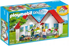 PLAYMOBIL City Life 5633 - Animalerie transportable pas cher