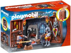 PLAYMOBIL Knights 5637 - Coffre Chevalier et forgeron pas cher