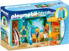 PLAYMOBIL City Life 5641 - Coffre Boutique de surf pas cher