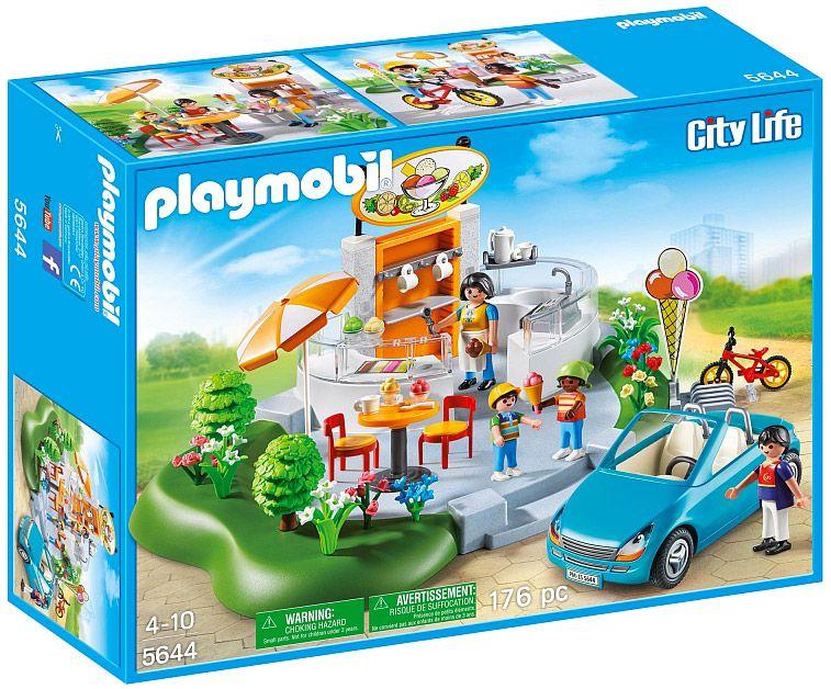 Playmobil city life 5644 pas cher le salon de th et glacier for Playmobil salon de coiffure