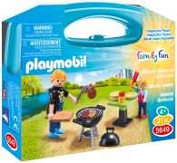 PLAYMOBIL Family Fun 5649 - Malette Barbecue pas cher