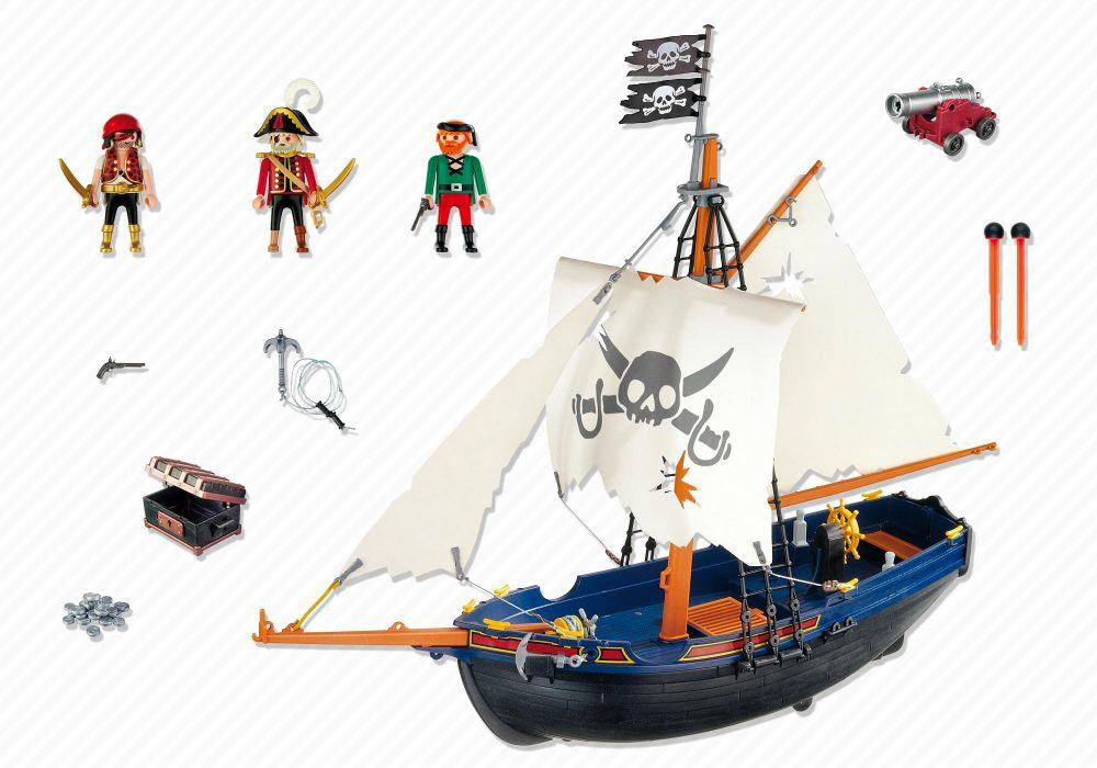 Playmobil pirates 5810 pas cher bateau de pirates - Playmobil bateau corsaire ...