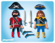 PLAYMOBIL Pirates 5814 Duo Pirate et Corsaire