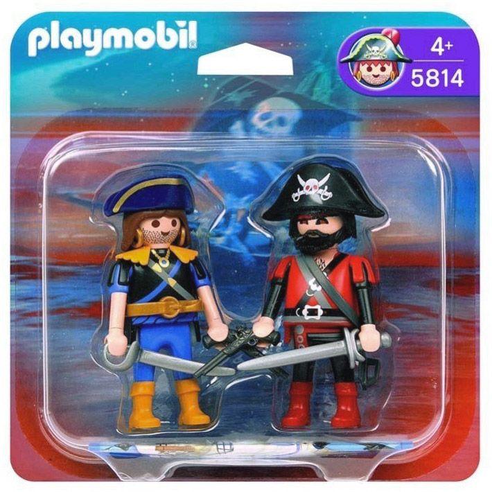Playmobil pirates 5814 pas cher duo pirate et corsaire - Bateau corsaire playmobil ...