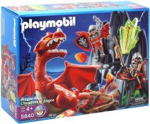 PLAYMOBIL Knights 5840 - Chevaliers et dragon pas cher
