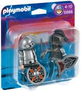 PLAYMOBIL Knights 5886 - Duo Chevaliers de fer pas cher