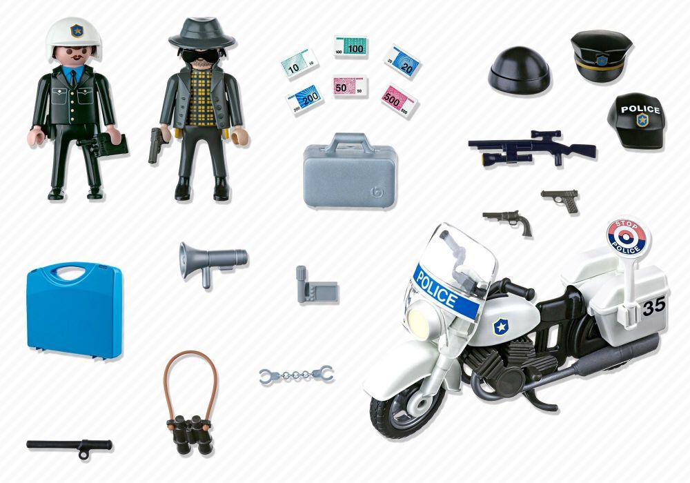 playmobil city action 5891 pas cher valisette policier et voleur. Black Bedroom Furniture Sets. Home Design Ideas