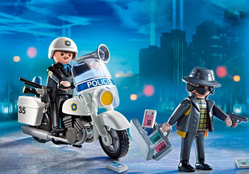 Playmobil city action 5891 pas cher valisette policier - Playmobile policier ...