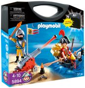 PLAYMOBIL Pirates 5894 - Valisette pirate et soldat pas cher
