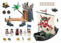 PLAYMOBIL Pirates 5919 La chaloupe des pirates et la tour de guet