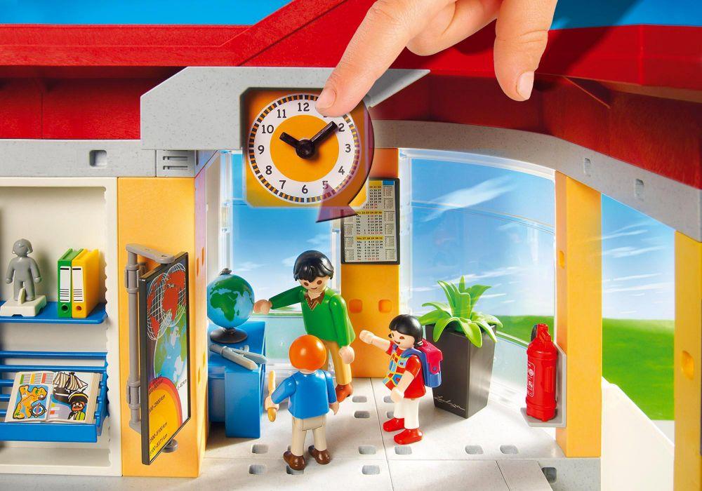 playmobil city life 5923 pas cher ecole avec 3 salles de classe. Black Bedroom Furniture Sets. Home Design Ideas