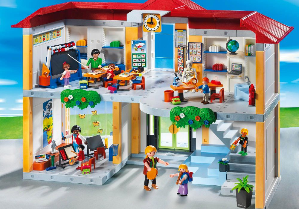 playmobil city life 5923 pas cher ecole avec 3 salles de. Black Bedroom Furniture Sets. Home Design Ideas