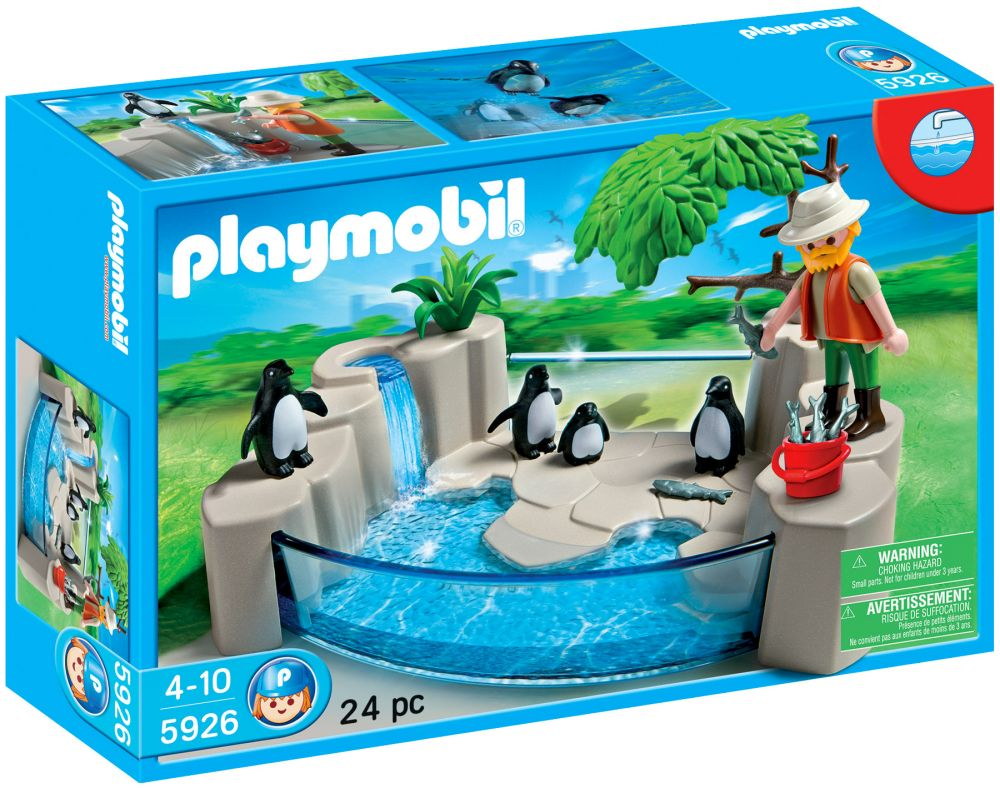 Playmobil city life 5926 pas cher la piscine des pingouins for Piscine playmobil prix