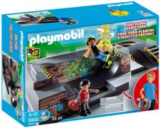 PLAYMOBIL City Life 5933 - Parc pour skateboards portable pas cher