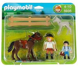 PLAYMOBIL Country 5935 Duo Cheval et Poulain