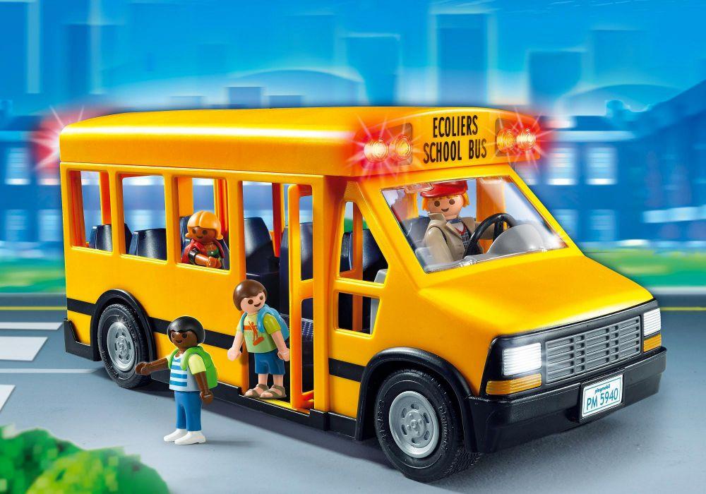 Playmobil city life 5940 pas cher bus scolaire jaune - Betonniere playmobil ...
