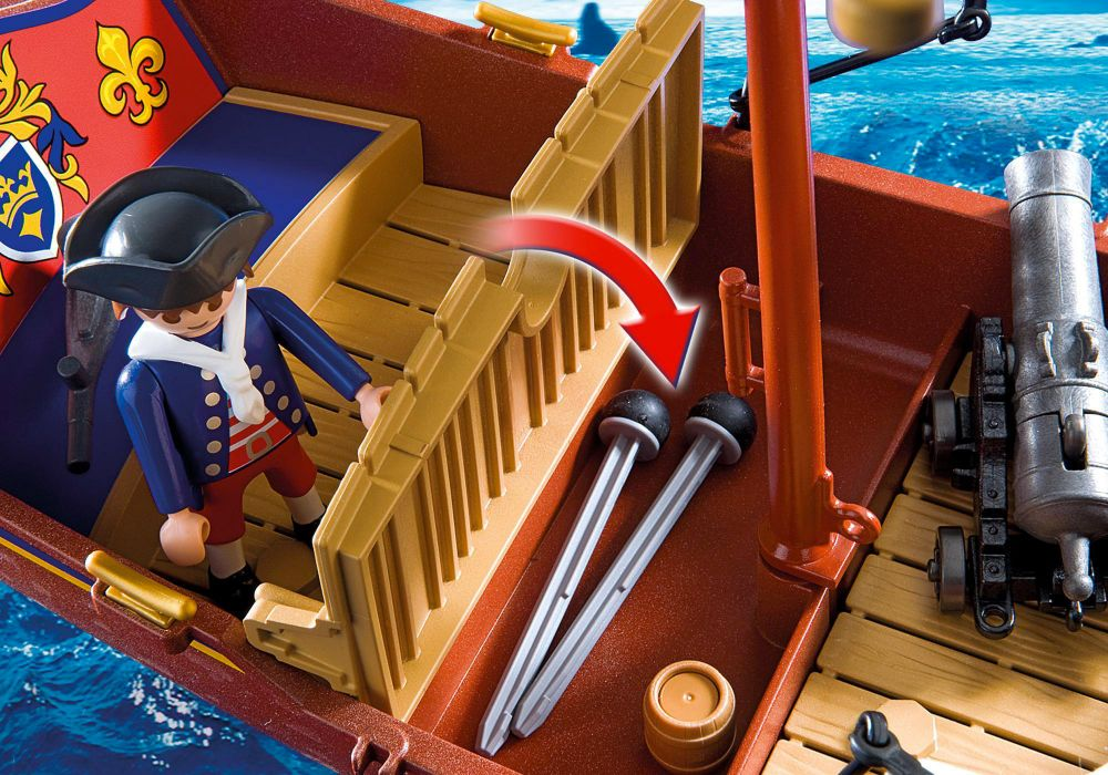 playmobil pirates 5948 pas cher bateau des soldats. Black Bedroom Furniture Sets. Home Design Ideas