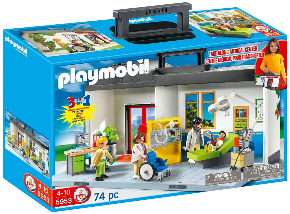 playmobil city life 5953 pas cher h pital transportable. Black Bedroom Furniture Sets. Home Design Ideas