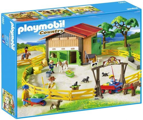 PLAYMOBIL Country 5960 Le centre équestre de poney