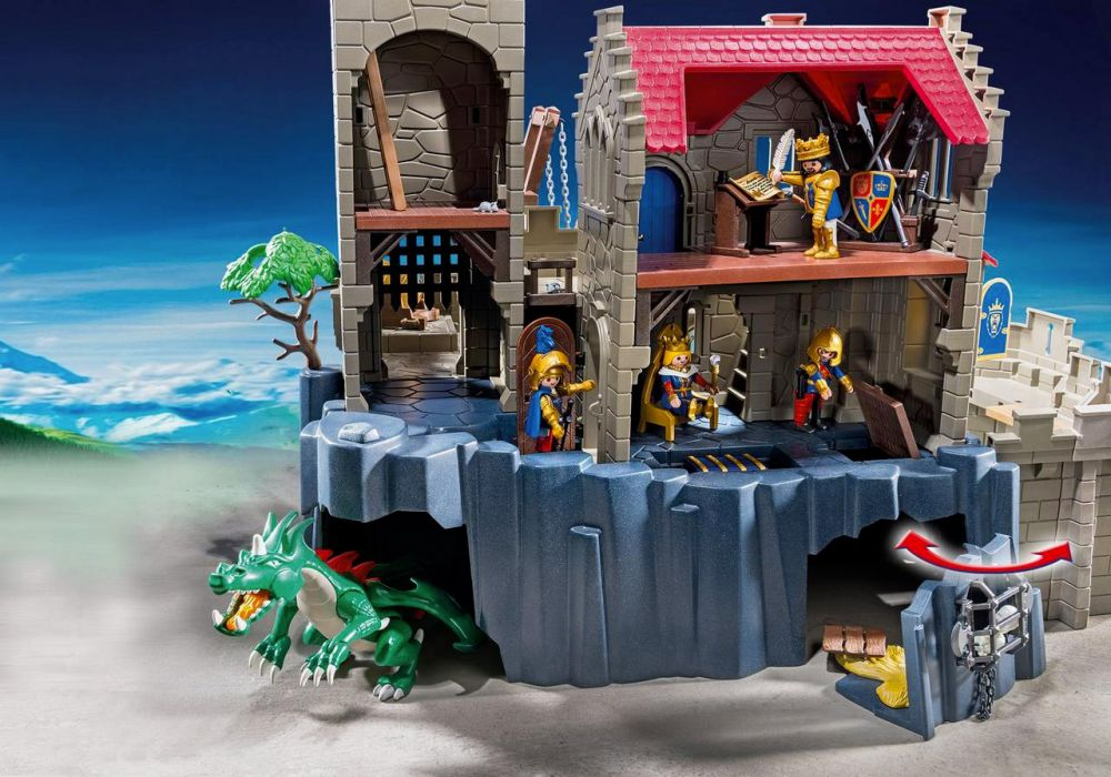 Playmobil knights 6000 pas cher ch teau des chevaliers - Chateau chevalier playmobil ...