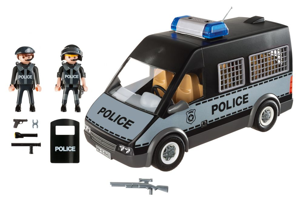 playmobil city action 6043 pas cher fourgon de police. Black Bedroom Furniture Sets. Home Design Ideas