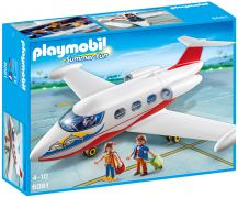 PLAYMOBIL Summer Fun 6081 Avion avec pilote et touristes