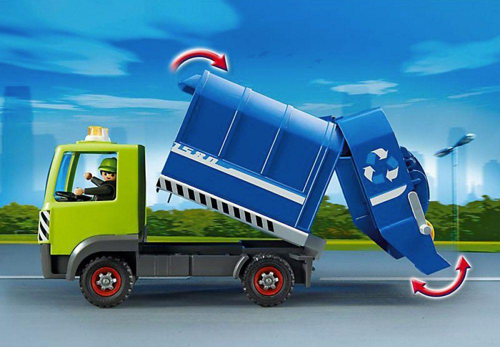 Playmobil city action 6110 pas cher camion de recyclage - Caserne pompier playmobil pas cher ...