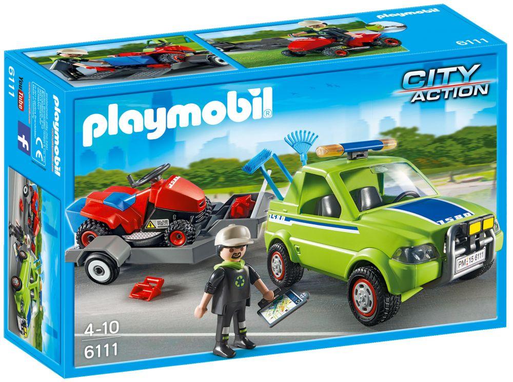 Playmobil city action 6111 pas cher jardinier avec - Caserne pompier playmobil pas cher ...