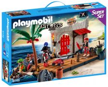 PLAYMOBIL Pirates 6146 - SuperSet Ilôt des pirates pas cher