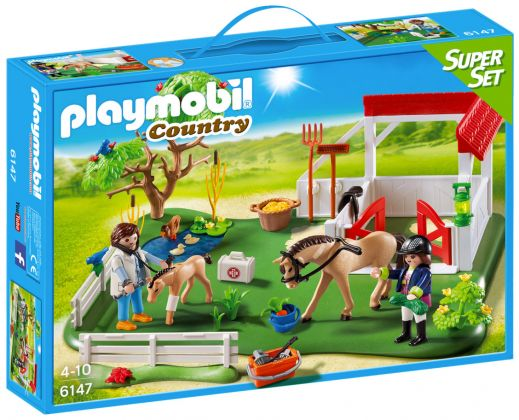 PLAYMOBIL Country 6147 SuperSet Paddock avec chevaux