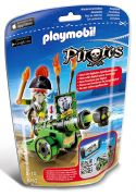 PLAYMOBIL Pirates 6162 - Capitaine pirate avec canon vert pas cher