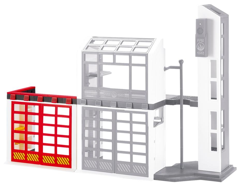Playmobil 6385 pas cher porte suppl mentaire pour caserne de pompiers avec alarme - Caserne de police playmobil ...
