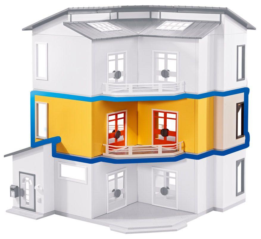 PLAYMOBIL 6554 pas cher - Etage supplémentaire pour Maison moderne