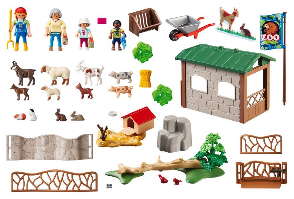 playmobil city life 6635 pas cher parc animalier avec. Black Bedroom Furniture Sets. Home Design Ideas