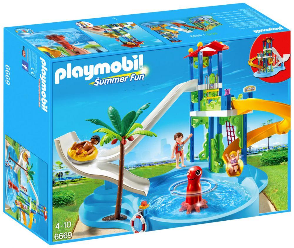 Playmobil Summer Fun 6669 Pas Cher Parc Aquatique Avec Toboggans