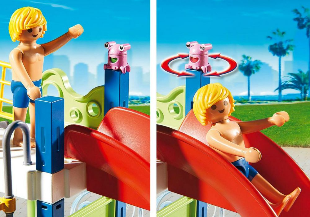 Playmobil summer fun 6670 pas cher aire de jeux aquatique for Piscine playmobil prix