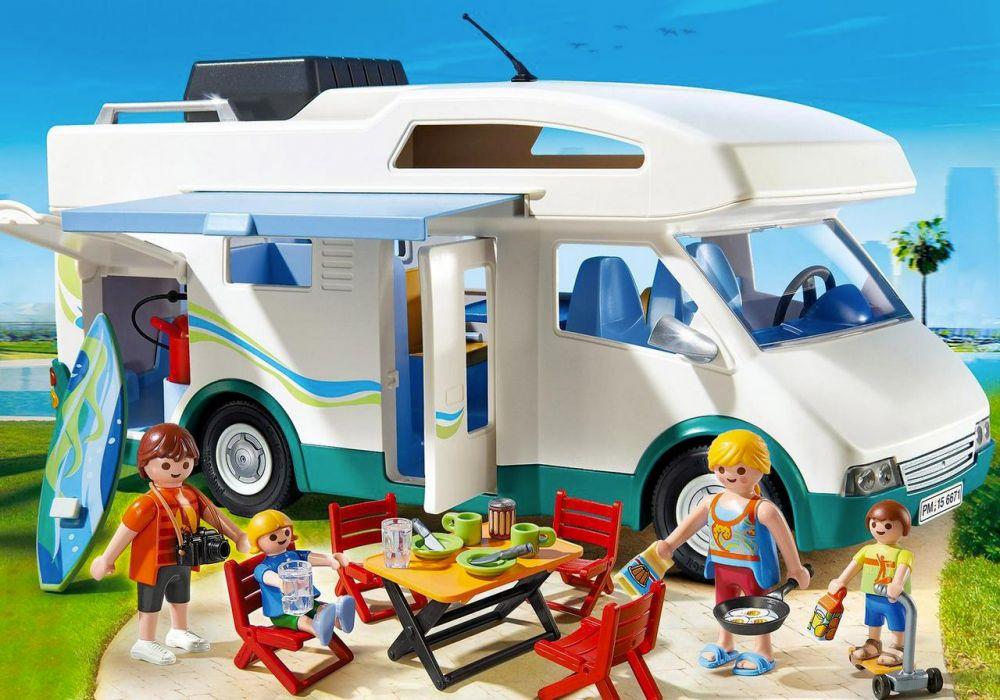 Playmobil summer fun 6671 pas cher famille avec camping car - Camping car playmobil pas cher ...